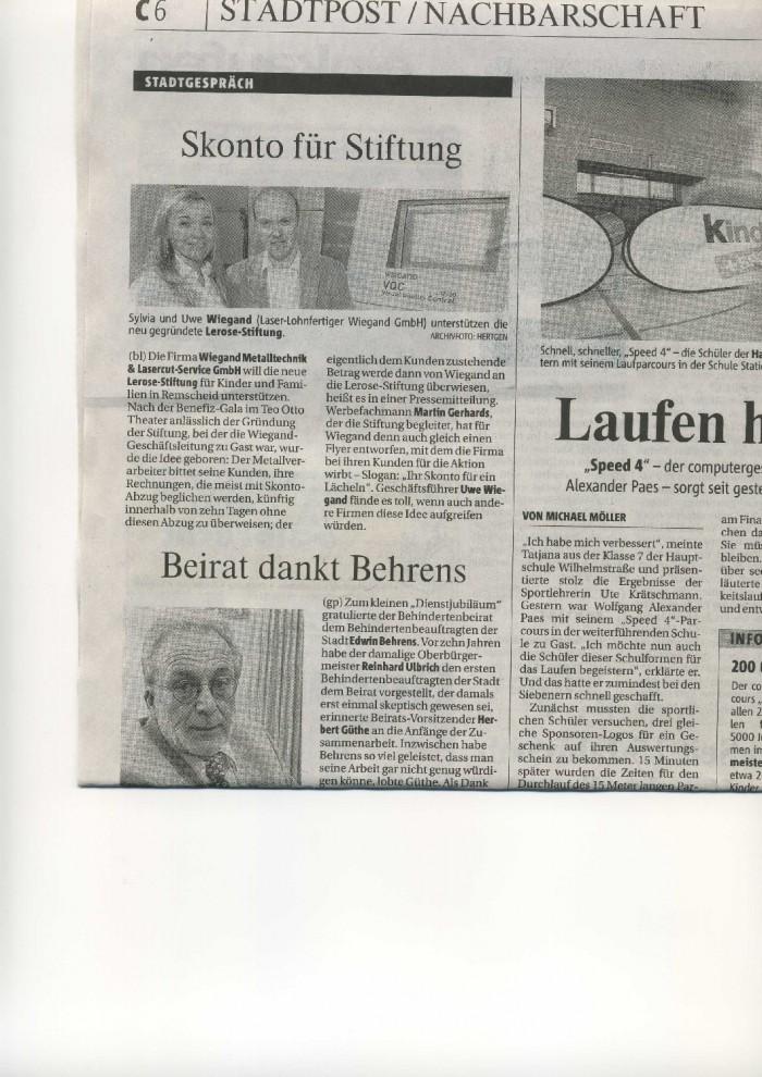 Bergische Morgenpost 28.11.2008