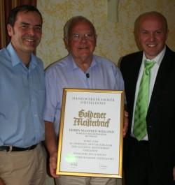 50 Meisterjubiläum - (v.l.n.r.) Jochen Wiegand, Manfred Wiegand, Uwe Wiegand
